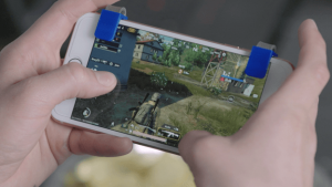 TriggerClips: Small yet Convenient Smartphone Gaming Controllers