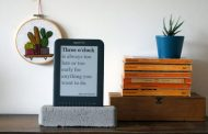 Jaap Meijers has Recycled an Old Amazon Kindle into a surprisingly useful Literary Quote Digital Clock